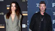 A modelo Emily Ratajkowski acusou o cantor Robin Thicke de abuso sexual. (Getty)
