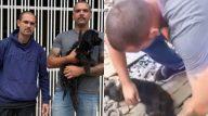 Policiais salvam cadelinha (Reprodução/Metrópoles)